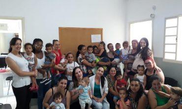 Saúde promove encontro especial para mamães e bebês atendidos na unidade São Bento