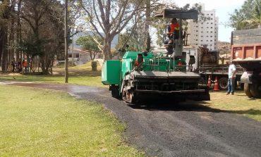 Quadras e pista de cooper do Pq. Municipal ficam prontas no fim do mês