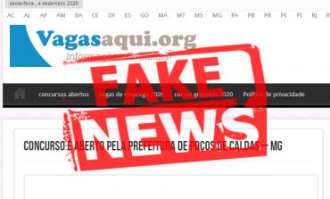 Notícia sobre concurso público é falsa