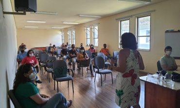 """Equipe do PAEFI Mulher faz palestra na INB com o tema """"violência contra a mulher"""""""
