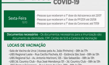 2ª Dose COVID-19 |  Aplicação da vacina de todos os laboratórios continua em Poços