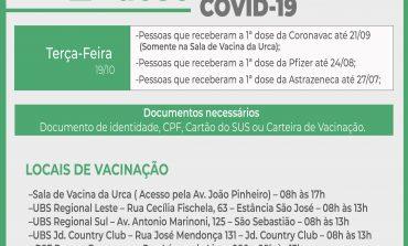 2ª Dose COVID- 19 | Vacinação acontece nesta terça (19)