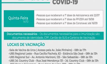 2ª Dose COVID-19 | Aplicação acontece nesta quinta (14)