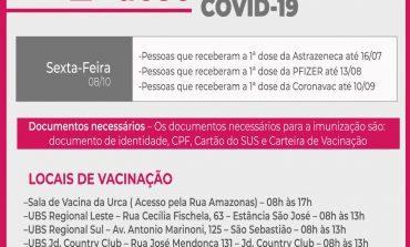 COVID-19 | Aplicação da 2ª dose da vacina acontece nesta sexta (08)