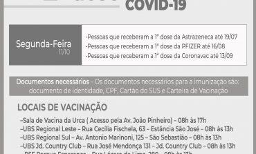 APLICAÇÃO DA 2ª DOSE DA VACINA CONTRA COVID-19 CONTINUA AMANHÃ