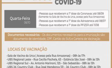 APLICAÇÃO DA 2ª DOSE DA VACINA CONTRA COVID-19 CONTINUA NESTA QUARTA (06)