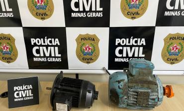 Motores furtados de Usina de Asfalto da Prefeitura de Poços são recuperados